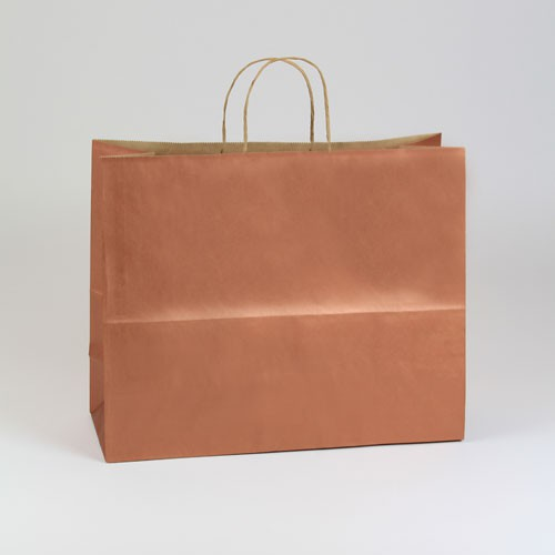 16 x 6 x 13 COPPER METALLIC PAPER SHOPPING BAGS ***LIMITED AVAILABILITY***