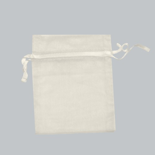 4 x 5 IVORY SHEER ORGANZA POUCHES