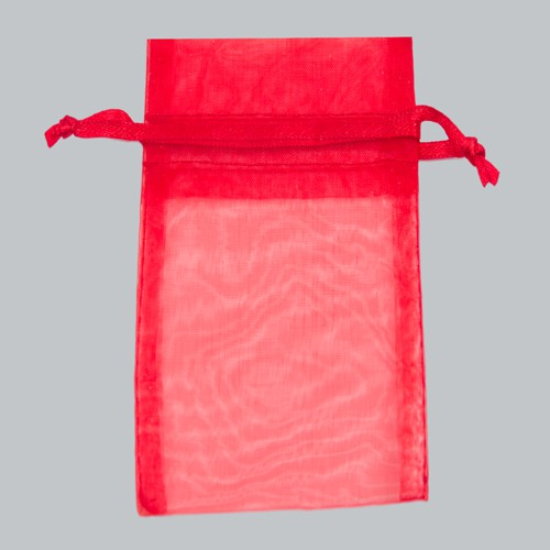5.5 x 9 RED SHEER ORGANZA POUCHES