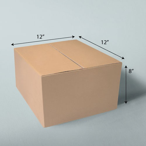 12 x 12 x 8 NATURAL KRAFT CORRUGATED SHIPPING BOXES