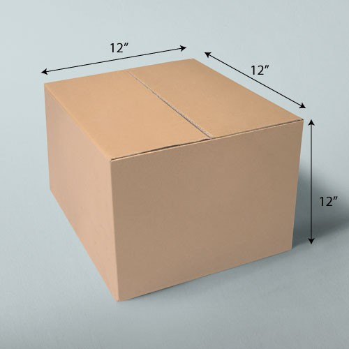 12 x 12 x 12 NATURAL KRAFT CORRUGATED SHIPPING BOXES