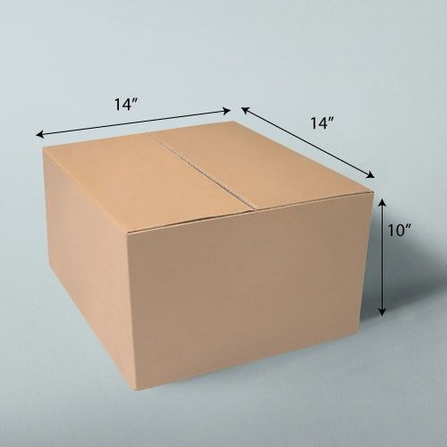 14 x 14 x 10 NATURAL KRAFT CORRUGATED SHIPPING BOXES