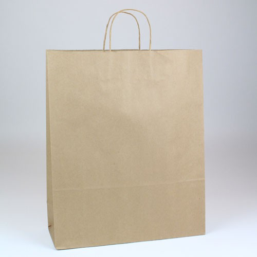 16 x 6 x 19.25 ECONOMY NATURAL KRAFT PAPER SHOPPING BAGS