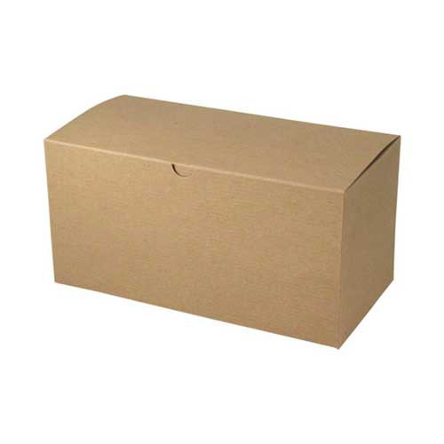 14 x 6 x 6 NATURAL KRAFT PINSTRIPE TUCK-TOP GIFT BOXES