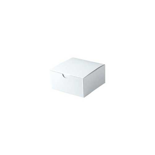 4 x 4 x 2 WHITE GLOSS TUCK-TOP GIFT BOXES