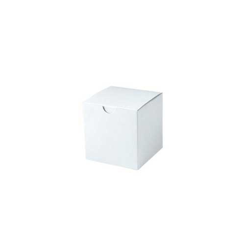 4 x 4 x 4 WHITE GLOSS TUCK-TOP GIFT BOXES