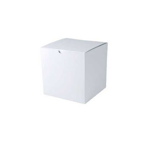 6 x 6 x 6 WHITE GLOSS TUCK-TOP GIFT BOXES