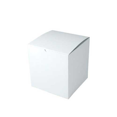 7 x 7 x 7 WHITE GLOSS TUCK-TOP GIFT BOXES - ***LIMITED AVAILABILITY***