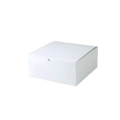 8 x 8 x 3.5 WHITE GLOSS TUCK-TOP GIFT BOXES