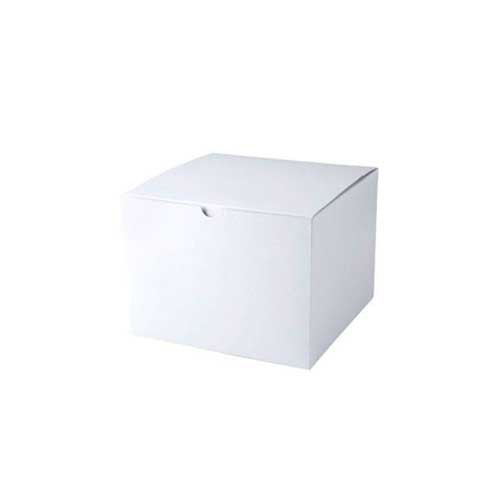 8 x 8 x 6 WHITE GLOSS TUCK-TOP GIFT BOXES
