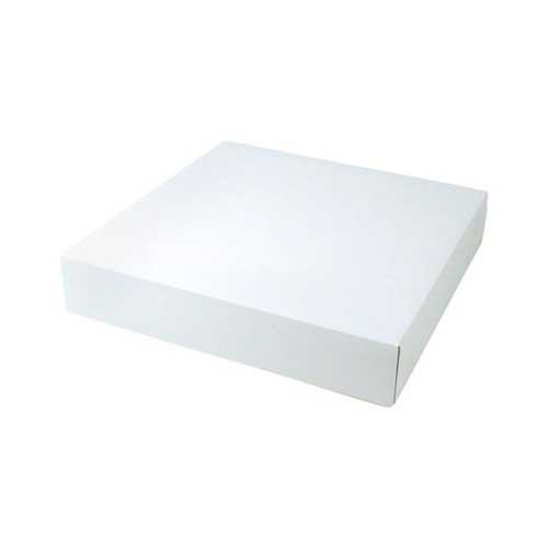 8.5 x 8.5 x 2 WHITE GLOSS TWO-PIECE GIFT BOXES