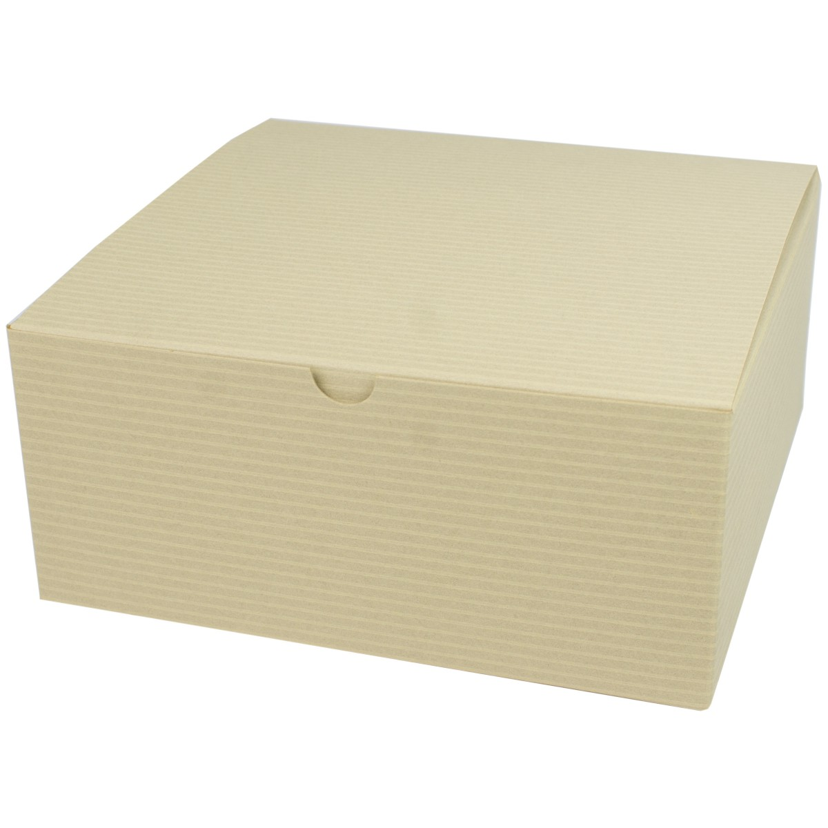 8 X 8 X 3 5 Oatmeal Tinted Tuck Top Gift Boxes