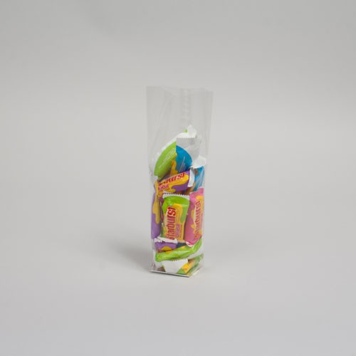 1.75 x 1.75 x 8.5 CLEAR PLASTIC CANDY BAGS