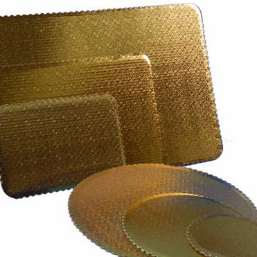 Gold Bakery Cake Pads