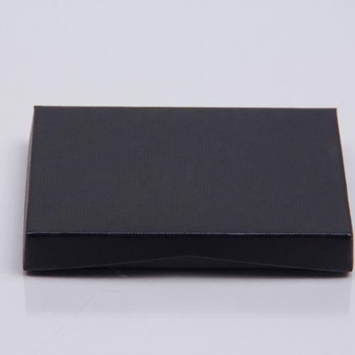 4-5/8 x 3-3/8 x 5/8 BLACK RIB GIFT CARD BOX WITH POP-UP INSERT