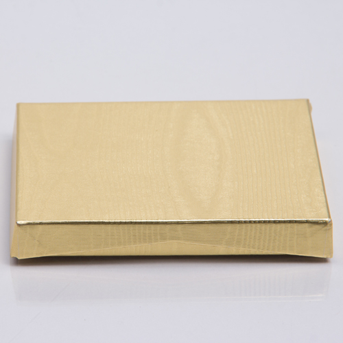 4-5/8 x 3-3/8 x 5/8 METALLIC GOLD GIFT CARD BOX WITH POP-UP INSERT