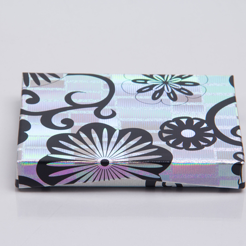 4-5/8 x 3-3/8 x 5/8 HOLO. FLOWERS GIFT CARD BOX WITH POP-UP INSERT