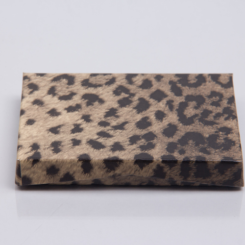 4-5/8 x 3-3/8 x 5/8 LEOPARD GIFT CARD BOX GIFT CARD BOX WITH POP-UP INSERT