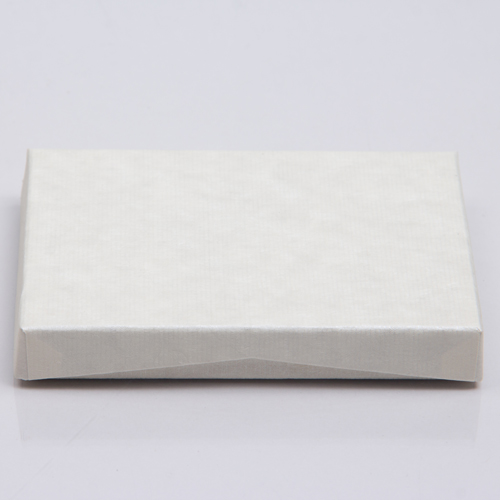 4-5/8 x 3-3/8 x 5/8 IVORY RIB GIFT CARD BOX WITH POP-UP INSERT