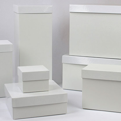 Gift Boxes & Lids - Hi-Wall - White