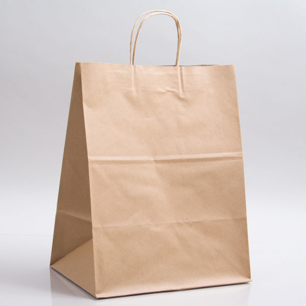 12 x 9 x 15.75 ECONOMY NATURAL KRAFT PAPER SHOPPING BAGS ***LIMITED AVAILABILITY***