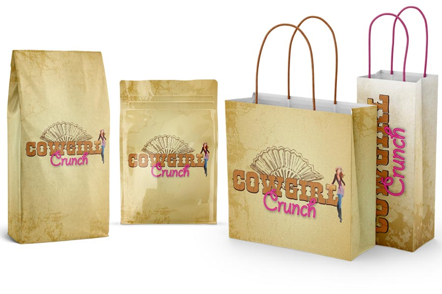 Design Services - Cowgirl Crunch, Tie Tie Bags, Shopping Bags, Doyopak