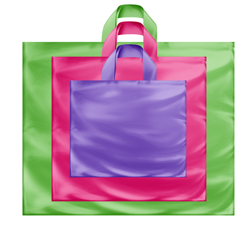 Plastic Tote Bags with Soft Loop Handles