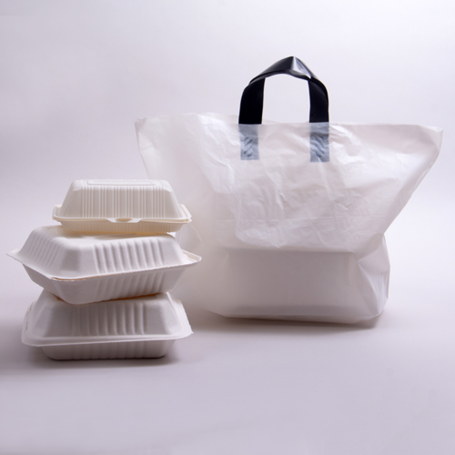 Soft Loop Handle Plastic Takeout Bags
