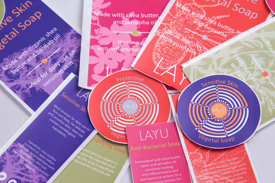 Custom Ink Printed Product Labels - Layu Senegal