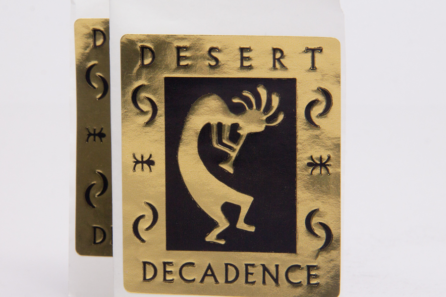 Custom Printed and Embossed Labels - Desert Decadence