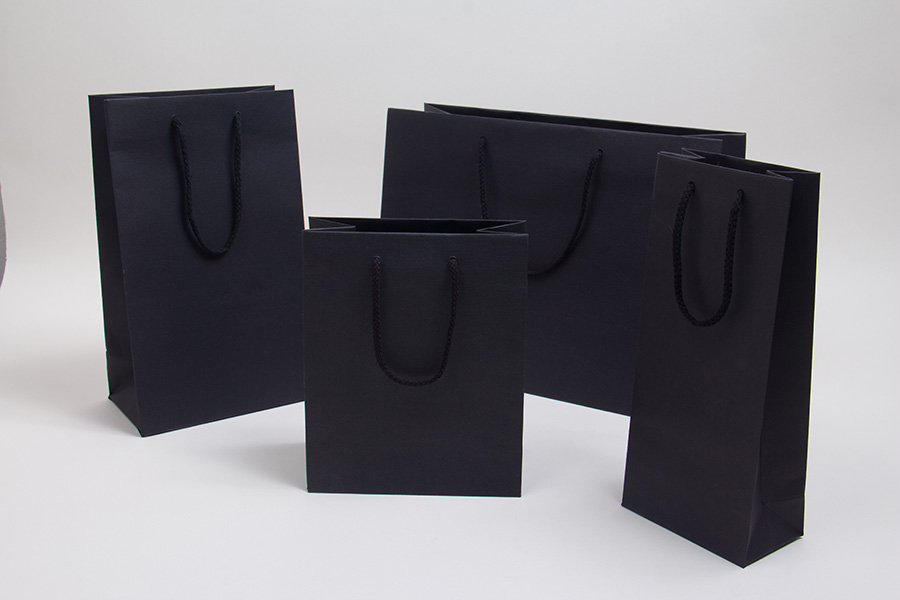 MC - Eurotote Shopping Bags - Black, Textured