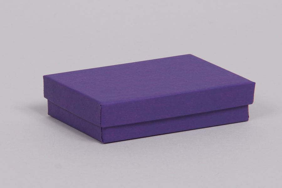 (#53) 5-1/4 x 3-3/4 x 7/8 MATTE DEEP PURPLE JEWELRY BOXES