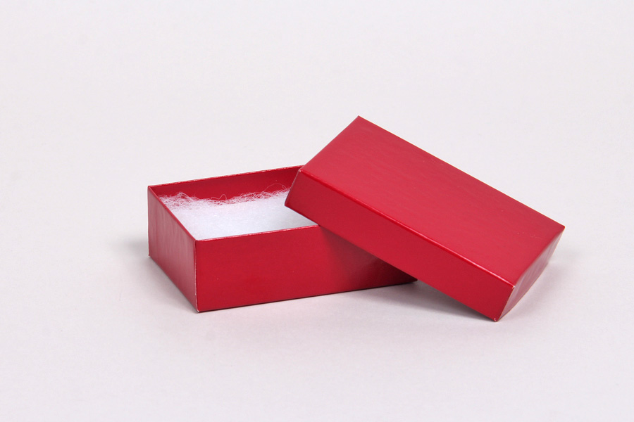 (#21) 2-1/2 x 1-1/2 x 7/8 CHERRY RED GLOSS JEWELRY BOXES