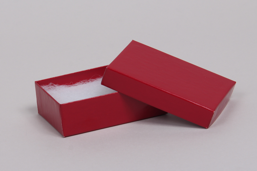 (#32) 3-1/16 x 2-1/8 x 1 CHERRY RED GLOSS JEWELRY BOXES