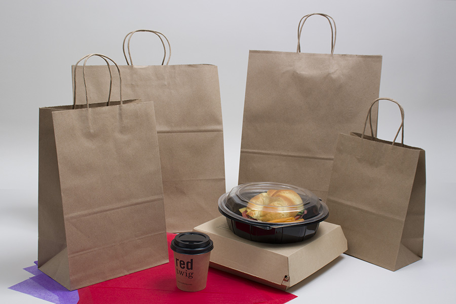 Natural Kraft Paper Takeout Bags