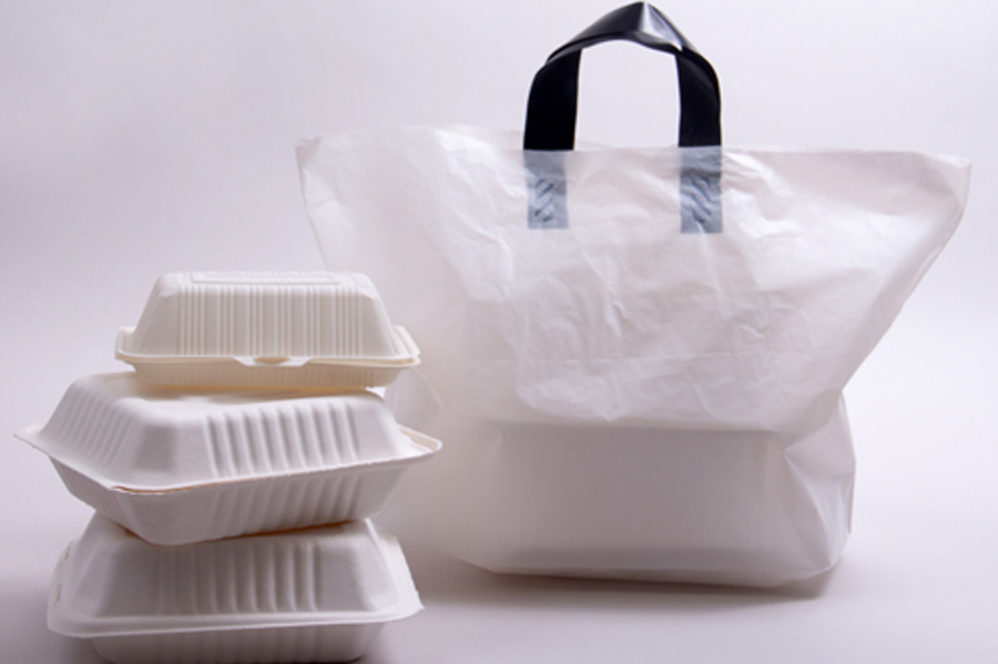 Plastic Soft Loop Handle Takeout Bags