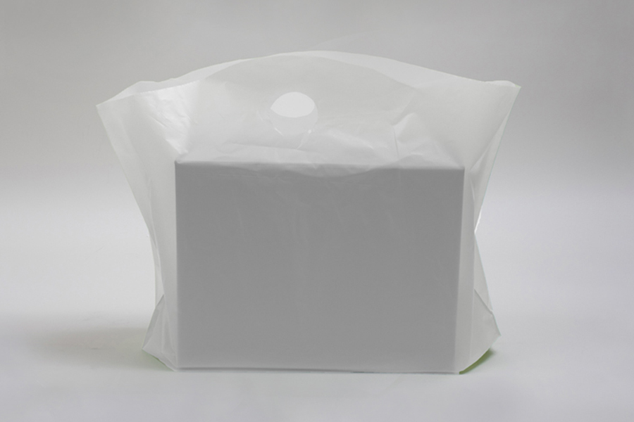 18 x 15 x 6 CLEAR FROSTED WAVETOP PLASTIC BAGS
