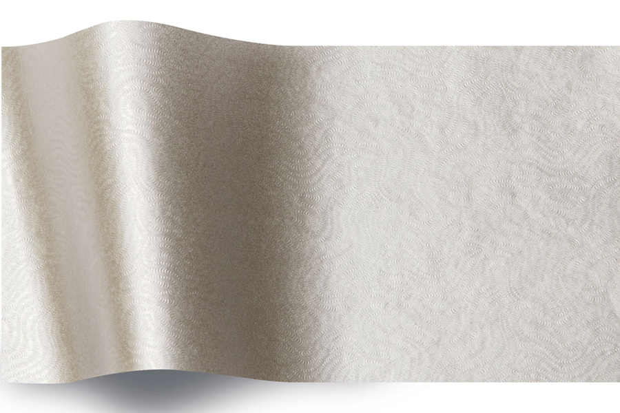 20 x 30 EMBOSSED SILVER SWIRL TISSUE PAPER