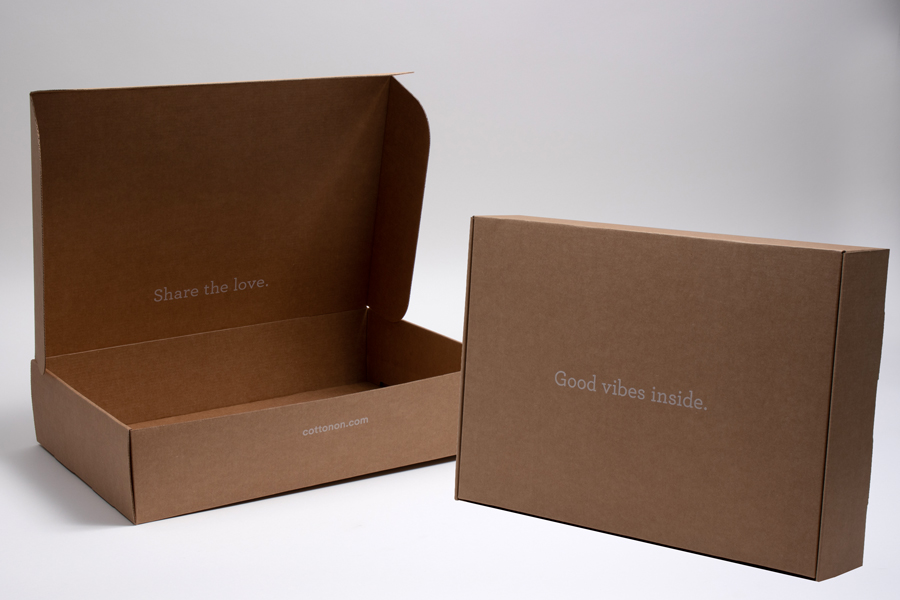 Custom Ink Printed Corrugated Shipping Box with Tucktop - Dental