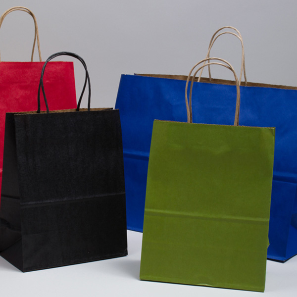 Classic Matte Color Tinted Paper Shopping Bags