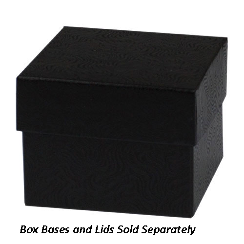 4 x 4 x 3 BLACK SWIRL HI-WALL GIFT BOX BASES *LIDS SOLD SEPARATELY*