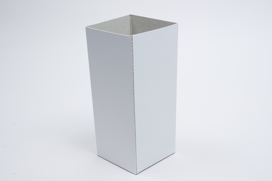 4 x 4 x 9 WHITE GLOSS HI-WALL GIFT BOX BASES *LIDS SOLD SEPARATELY*