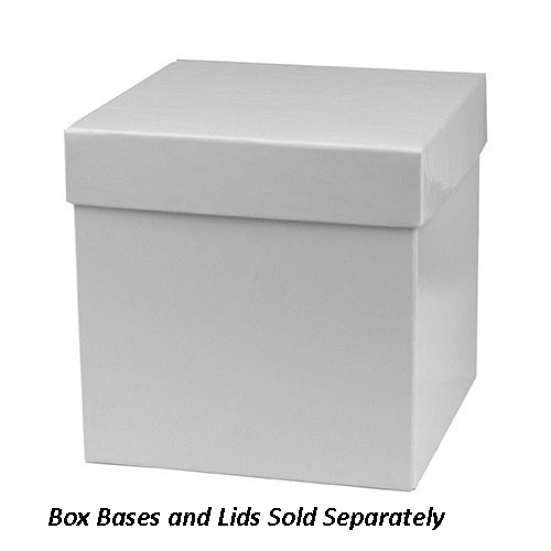 6 x 6 x 6 WHITE GLOSS HI-WALL GIFT BOX BASES *LIDS SOLD SEPARATELY*