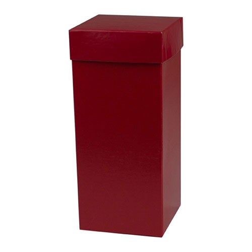4 x 4 x 9 RED GLOSS HI-WALL GIFT BOX BASES *LIDS SOLD SEPARATELY*