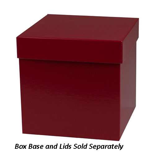 6 x 6 x 6 RED GLOSS HI-WALL GIFT BOX BASES *LIDS SOLD SEPARATELY*