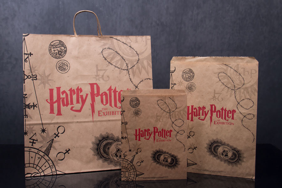 Custom printed natural kraft paper shopping bags and merchandise bags - Harry Potter