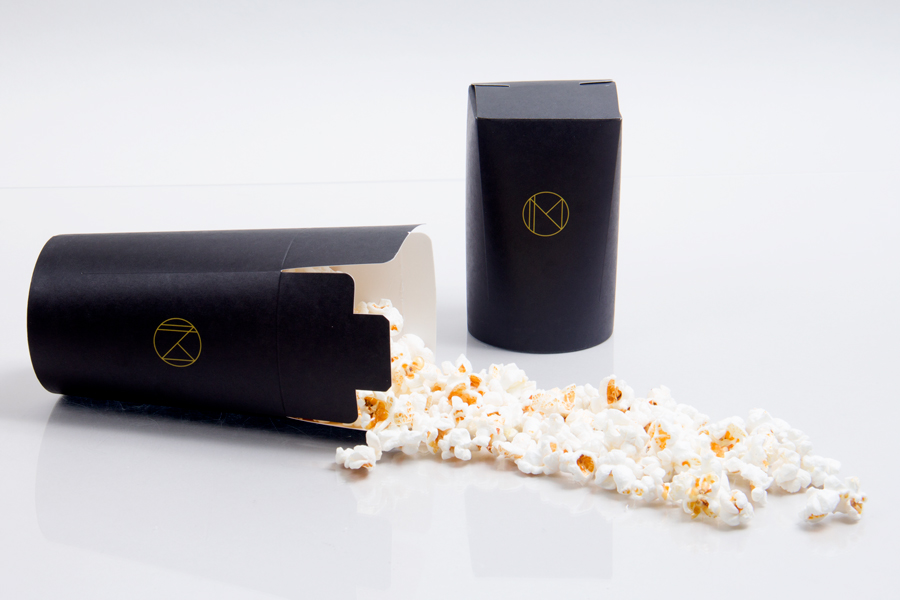 Custom Hot Stamped Nomad Hotel Popcorn Cup