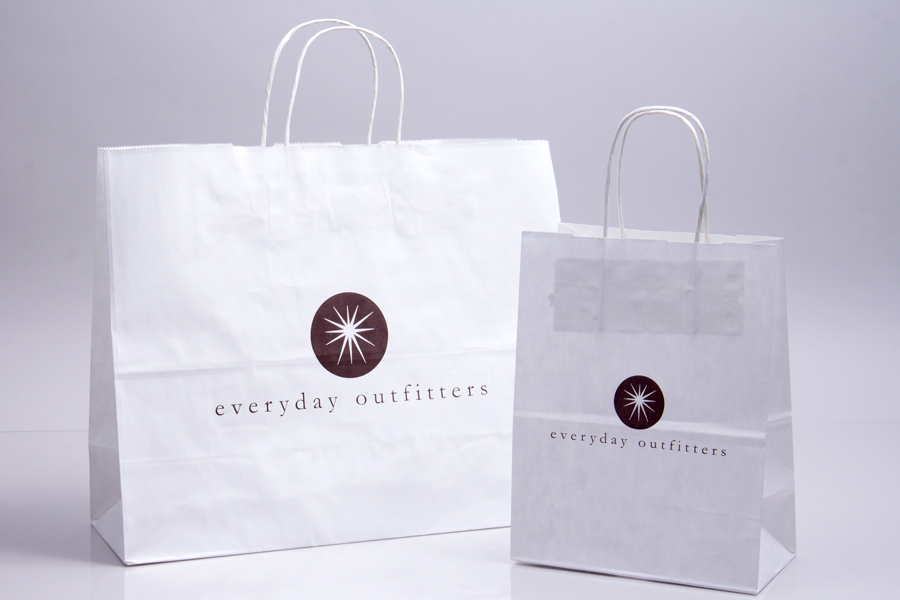 Semi-Custom Printing Options - Ink Printed Shopping Bags - Everyday Outfitters