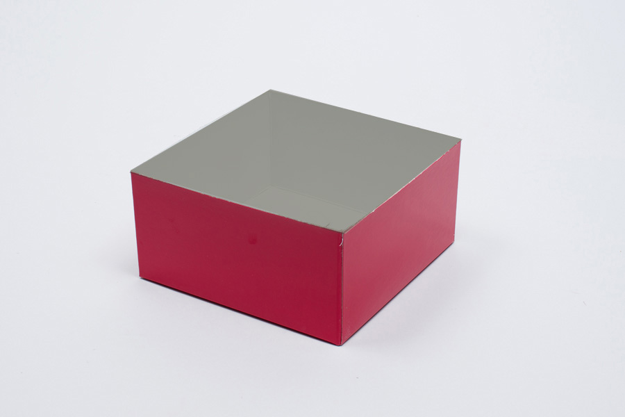 6 x 6 x 3 RED GLOSS HI-WALL GIFT BOX BASES *LIDS SOLD SEPARATELY*