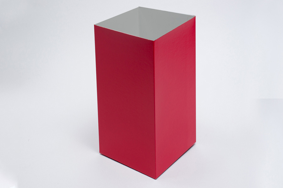 6 x 6 x 9 RED GLOSS HI-WALL GIFT BOX BASES *LIDS SOLD SEPARATELY*